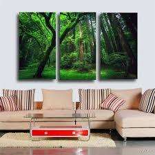 chambre de d馗ompression hd imprimé forêt vert arbre peinture sur toile chambre décoration d