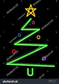 christmas tree design featuring neon lights stock vector 66125683