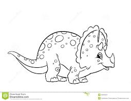 Dinosaur Clipart Coloring Triceratop Pencil Color