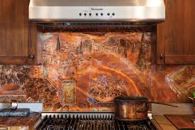 kitchen ideas copper backsplash for kitchen home design and decor