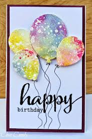 birthday cards for brilliant painted balloons by expresstions of me card ideas