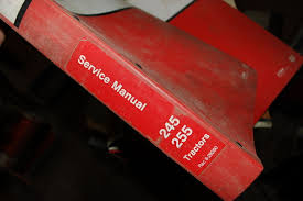 case 245 255 tractor repair shop service manual book overhaul