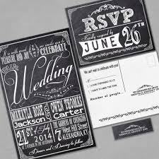 chalkboard wedding invitations modern feminine wedding invitations