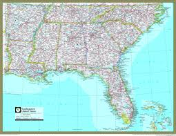 Map Of Southern Usa by Southeast Usa Road Map Reise Know How Mapscompany Southeast Usa