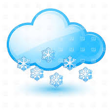 cloud with snowflake snow weather icon vector clipart image