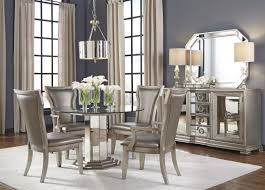 couture silver round pedestal dining room set from pulaski