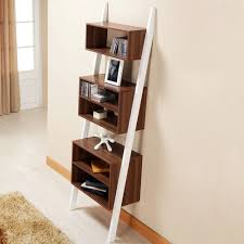 leaning bookcase in beautiful display fabulous home ideas
