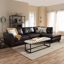 Modern Leather Sectional Sofa Coaster Darie Leather Sectional Sofa With Left Side Chaise Pics