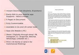 19 memorandum templates u2013 free word pdf documents download