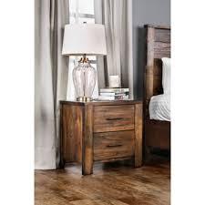 rustic nightstands u0026 bedside tables shop the best deals for oct