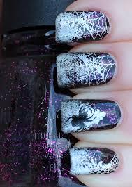 hallowe u0027en nail art challenge u2013 spider web lindsey u0027s lacquer