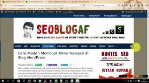 membuat navigasi wordpress video tutorial wordpress