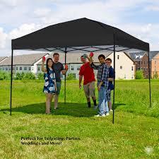 Steel Pop Up Gazebo Waterproof by Pop Up Canopy Tent 10 X 10 Feet Black Uv Coated Waterproof