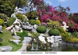 bonsai decorative japanese rock stock images royalty free images