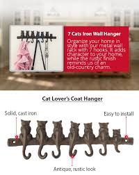 amazon com 7 cats cast iron wall hanger decorative cast iron