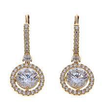 cubic zirconia drop earrings absolute 3 64ctw cubic zirconia 14k drop earrings 8253380