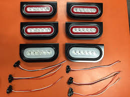 Backup Lights 6 Led 6 U2033 Oval Truck Trailer S T T Red W Clear Lens And Backup