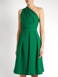 athena one shoulder stretch cady dress preen by thornton