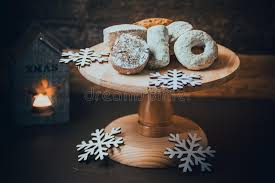 traditional spanish christmas cookies polvorones nevaditos and