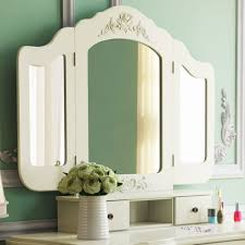 Jewelry Vanity Table 5 Drawer U0026 Mirror Makeup Vanity Dressing Table Set W Stool
