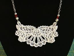white lace necklace images Jewelry white lace necklace 11 machine embroidered with 4 jpg