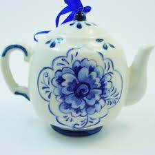delft blue porcelain teapot ornament medium goldfingers gifts