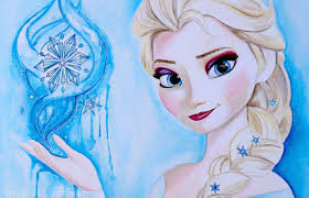 frozen painting elsa
