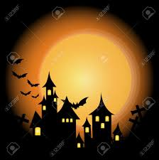 halloween themed design halloween background with haunted house