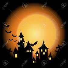 halloween haunted house background halloween themed design halloween background with haunted house