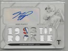 autograph plate 2017 topps threads white whale mike piazza autograph patch