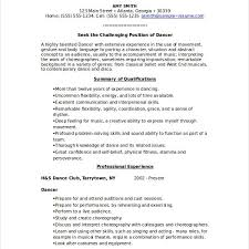 Dance Resume Template Musical Theatre Resume Examples Listening And Reacting Acting