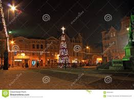 grudziadz poland november 27 2015 christmas tree and