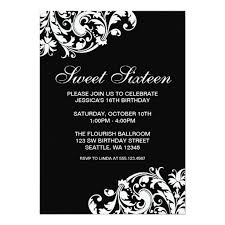 sweet 16 birthday party invitations sweet sixteen invitations