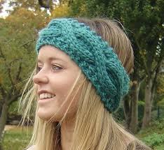knitted headband pattern knitting pattern cable headband ear warmer easy beginner knit