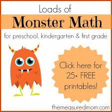 monster math games u0026 activities with loads of free printables
