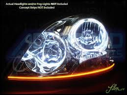 lexus is yellow fog lights 04 06 lexus ls430 ccfl halo rings headlights bulbs