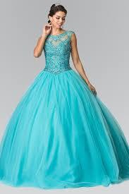 cheap ball gown prom dress quinceanera sweet 15 dress gl2352aqua