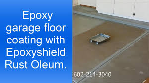epoxy garage floor coating with epoxyshield rust oleum youtube