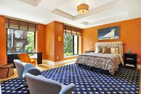 Contemporary Bedroom Colors - examples of what color goes with orange 22 house interiors