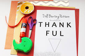 doll craft make a thanksgiving bunting banner with free pattern