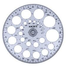 aacee u0027s transparent plastic pro circle protractor radius template
