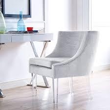 Modern Digs Furniture by Myra Chair Silver Croc Velvet Croc Furniture Modern Digs