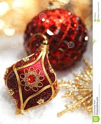 and gold ornaments happy holidays