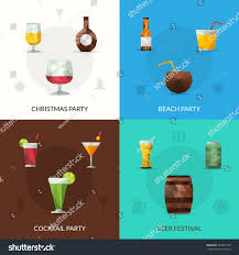 drinks design concept set christmas cocktail stock vector