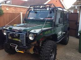 land rover jeep defender for sale defender full rollcage u0026 extreme front end for sale lr4x4