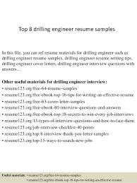 Environmental Engineer Resume Sample by Top 8 Drilling Engineer Resume Samples 1 638 Jpg Cb U003d1427960209