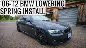 bmw 335i 2006 how to lowering install on 2006 2012 bmw e90 e92 335i 328i