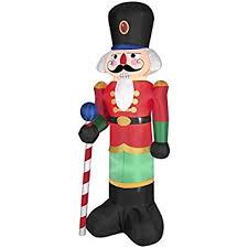 Blow Up Christmas Decorations Outdoor by Amazon Com Gemmy Industries Airblown Nutcracker Christmas