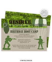 army birthday invitations boot camp invitation army invitations military invitations