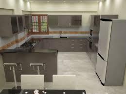 kitchen with breakfast counter mr koushik interior designing of